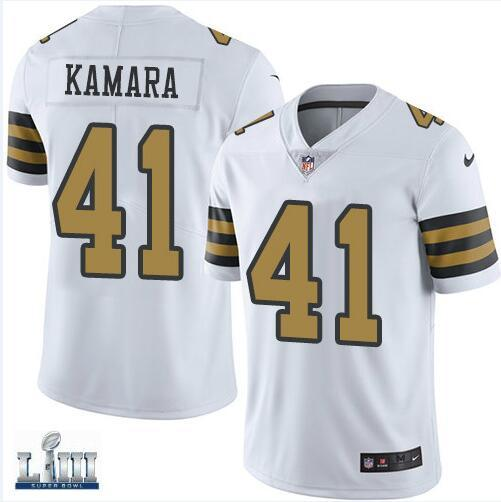 hot sale online 4cd9f 5154a 2019 Men'S Drew Brees Jersey Saints Alvin Kamara Michael Thomas Pro Super  Bowl LIII Custom Cheap Authentic Shop USA Football Jerseys Rugby Vapor From  ...