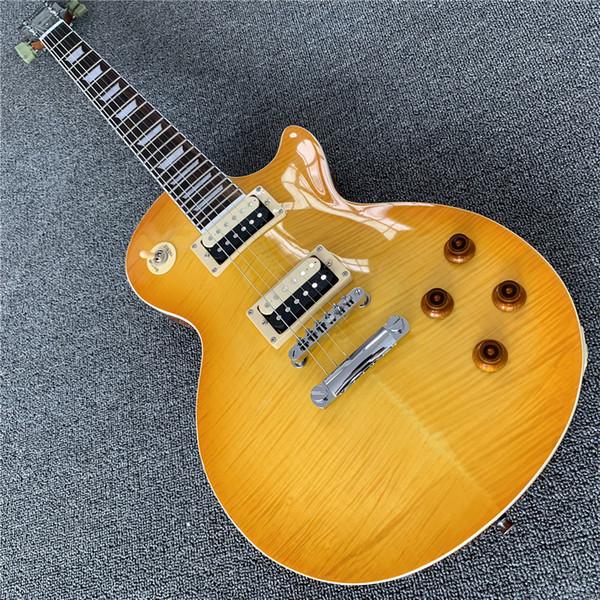 Новый высококачественный новый для гитары Китай электрогитара желтый аппетит, горячие продажи высококачественной гитары