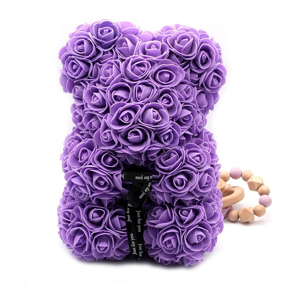 25cm purple bear