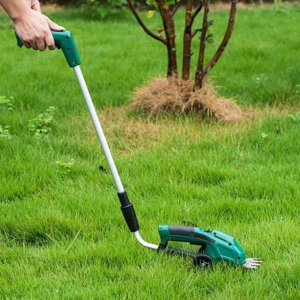 best selling Portable USB Rechargeable Handheld Hedge Shrub Trimmer Retractable Cordless Electric Multi-function Grass Cutter Lawn Mower