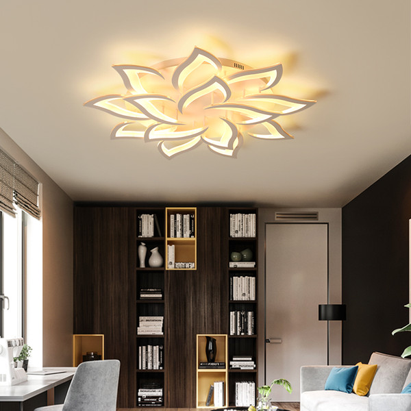 Lustre Chandelier Light for Living room Bedroom Surface mounted flower shape Modern Ceiling Chandelier Lighting Chandelier