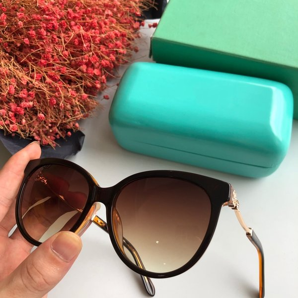 2019 summer black brown frank frame cheap high quality fashion designer men women Hot sell sunglasses with blue case box and dastbag