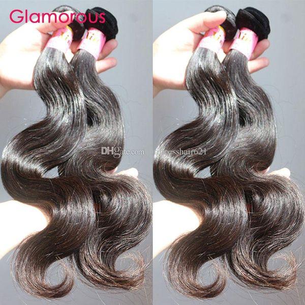 "Glamorous Superior Quality Virgin Brazilian Hair Weaves 5Pcs/lot 8""-34"" Full Cuticle Dyable Peruvian Indian Malaysian Remy Human Hair Bundle"
