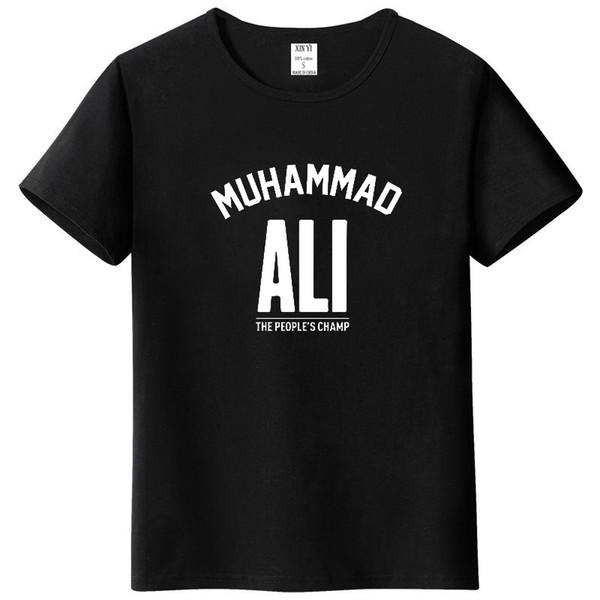 Herren Top MUHAMMAD ALI T-Shirt Freizeitkleidung Herren Greatest Fitness Kurzarm bedrucktes Top Baumwoll T-Shirt in Übergrößen