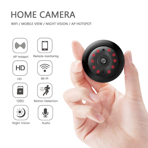 v380 wireless mini ip camera hd ir infrared night vision micro camera home security wifi baby monitor camera with bracket
