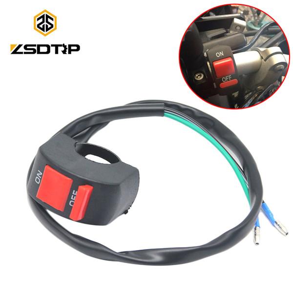ZSDTRP Interruttore universale per fendinebbia manubrio Interruttore fari moto Pulsante accensione / spegnimento Accessori moto