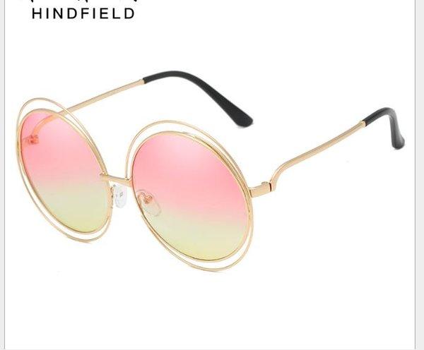 05f9e76d0 Óculos de sol modernos, óculos de sol de metal, armações grandes para óculos  de