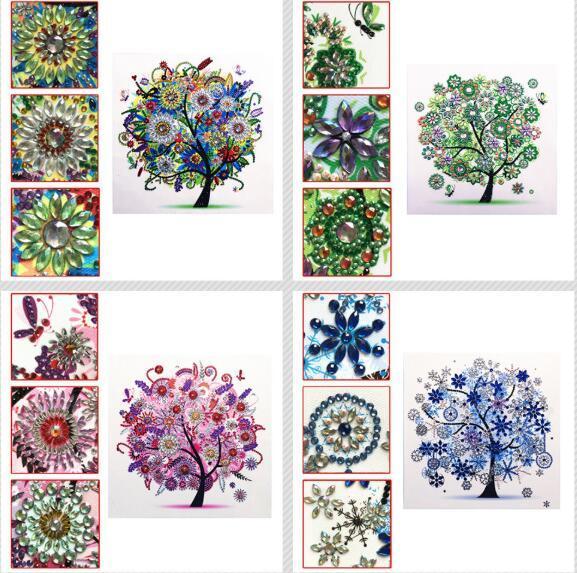 5D Diamant Peinture forme spéciale diamant peinture fantôme fleur combinaison moderne modèle DIY 5D partie perceuse kit de point de croix cristal art
