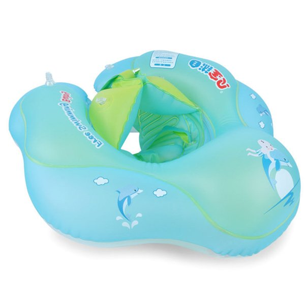 Swim Inflatable Tube Floating Baby Safety Swimming Ring Cute Cartoon Summer Pool Kids Infant Raft Aid Trainer Water Toys