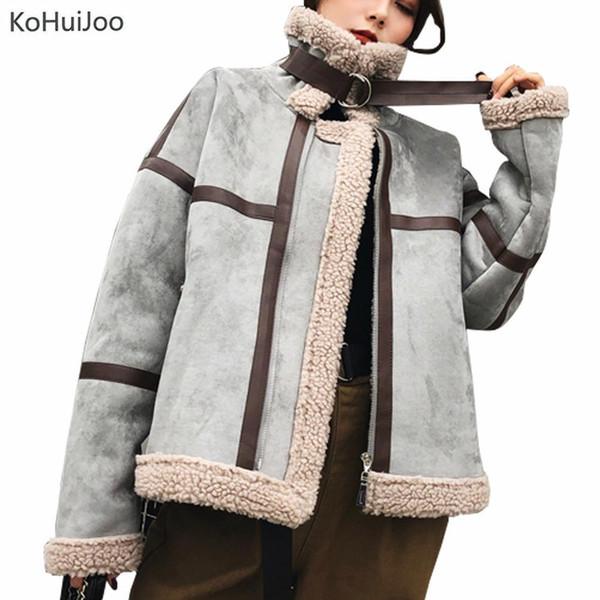 Veste Élégant Casual Laine Mode Patchwork En D'agneau Vestes Acheter Kohuijoo Manteau D'hiver Daim Belle Couleur Dames Coréenne Vintage dxBCeWQroE