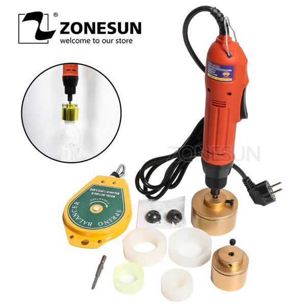top popular ZONESUN 28-32mm plastic bottle capper Portable automatic electric capping machine Cap screwing Machine electric sealing 2020