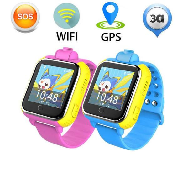3G Akıllı İzle Uzaktan Kamera Android Telefon için LBS WIFI Yer Çocuklar İzle GPS 1.54 '' Dokunmatik Ekran Akıllı SOS Tracker GPS