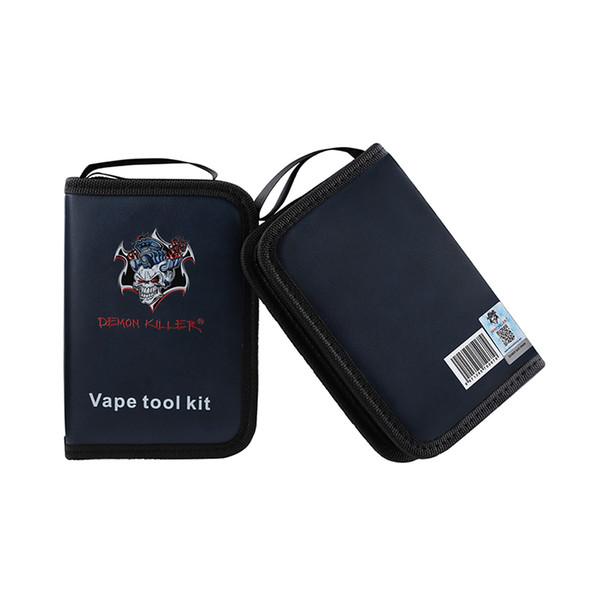 Demone Killer Vape Tool Kit Vape Bag con pinzette di ceramica Pinze Cutter Spazzola Spazzola di pulizia per atomizzatori fai da te DHL