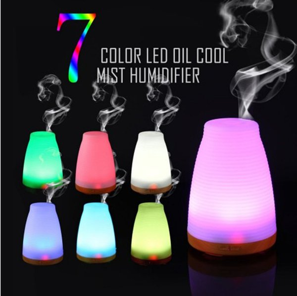 7 Color LED Night Light US EU Plug Essential oil diffuser humidifier Aroma Humidifier Diffuser Ultrasonic Cool Mist Fresh Air Aromatherapy