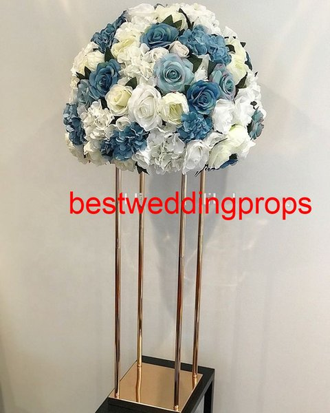 new style silk cherry blossom flower wedding arch peach blossom flower metal frame for stage decoration best01173