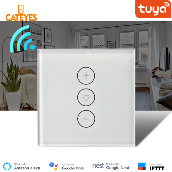 High Quality Cateyes EU Tuya 220V/110V Ewelink Wifi Dimmer Switch Smart  Touch Light Switch Bulb Dimmer Work With Alexa Google Assistant Lighting  Smart