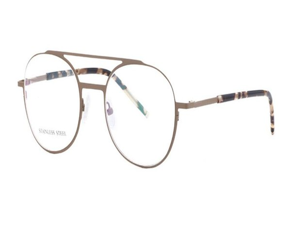 MONGOTEN Newest Design Unisex Fashion Full Rim Stainless Steel Clear Lens Myopia Eyewear Frame Black Blue Optical Eyeglasses