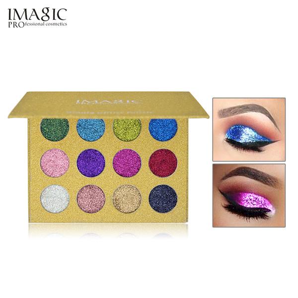 Wholesale 12 Color Palette Makeup Glitter Paint Eye Shadow Waterproof Cosmetic Glitter Single Eye Shadow Magnet Palette Fast Drop Shipping