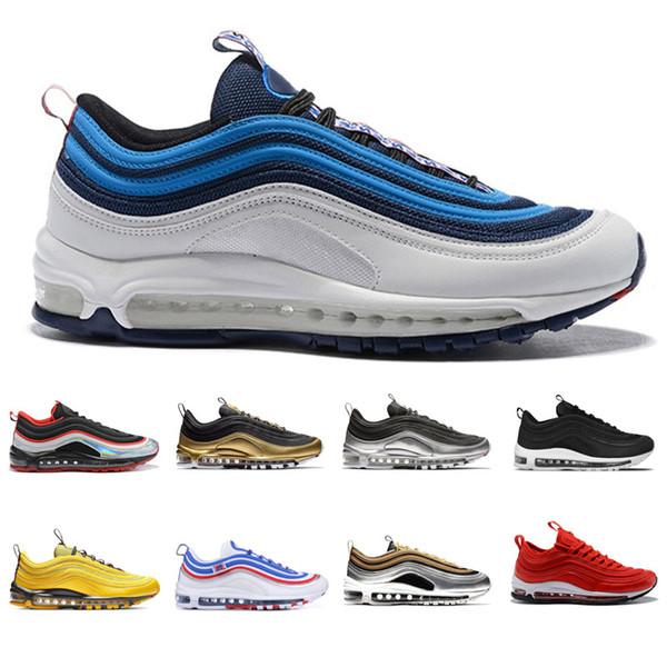 nike air max 97 2019 erkekler Ucuz Gym Kırmızı Koşu Ayakkabıları erkekler için Güney Plaj siyah gümüş güzel bir gün Var Gelecek yelken pembe Hız eğitmenler tenis Spor Sneakers