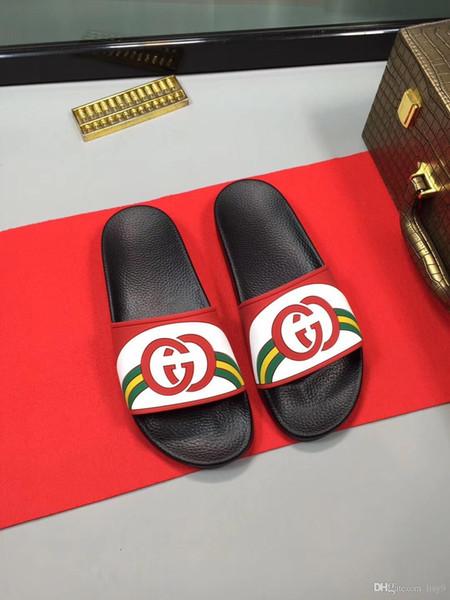 Homens iduzi sandálias de slides sapatos de grife de luxo deslizamento moda verão ampla plana escorregadio com sandálias grossas chinelo chinelos