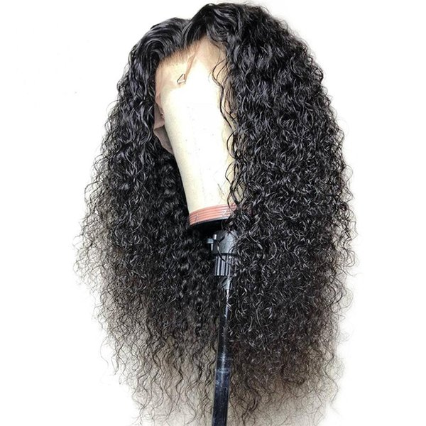kinky Curly Lace Front Wigs With Baby Hair 100% Brazilian Vrigin hair Bob Curly Lace Wigs Curly Full Lace Wigs For Black Women