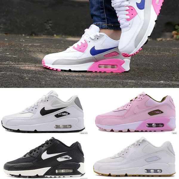 top popular Men Sneakers Shoes Classic 90 Men and woman Shoes Sports Trainer Air Cushion Surface Breathable Sports Shoes 36-45 2020