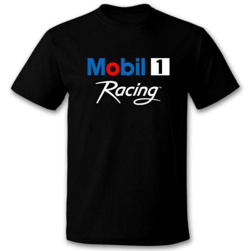 Das T-Shirt S des Mobil-1 Racing Logo Mens bis 3XL 2018 Kurzarmt-shirt Männer arbeiten Markenentwurf 100% Baumwolle männliche Qualität um