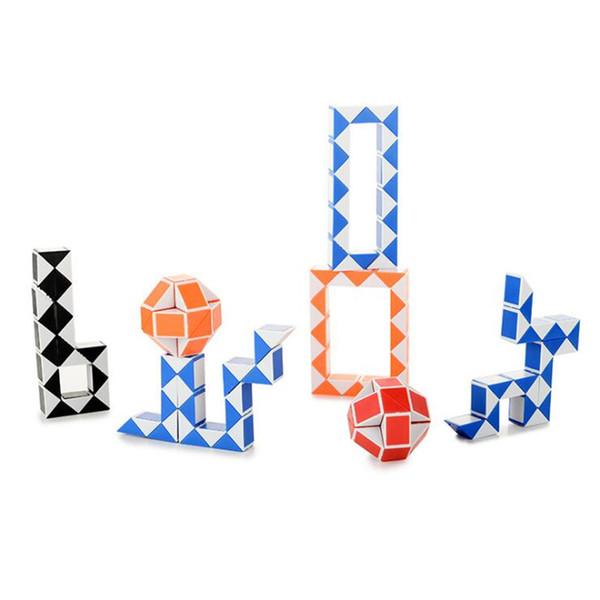 Mini tamanho 24 Cubo Mágico Cobra Forma Toy Game 3D Cubo Enigma Torção Quebra-cabeça Toy Kids Brinquedos SS297