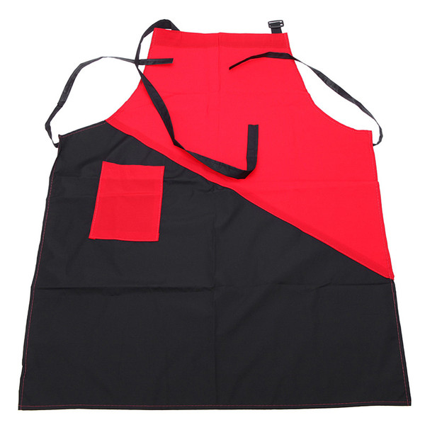 Salons Hairdressing Cape for Hair Cutting Apron Professional Hair Cut Hairdresser Barbers Aprons Red and Black Apron Bib