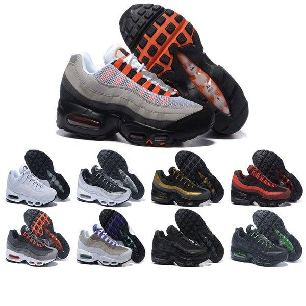 Großhandel Nike Air Max 95 Shoes Qualitativ Hochwertige Laufschuhe Herrenturnschuhe Rot Weiße Klassische Schuhe Schwarz Gelb Männer Frauen Outdoor