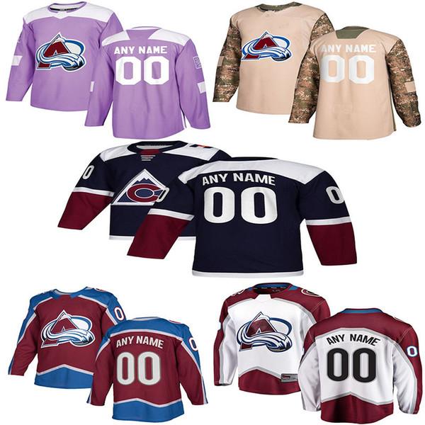 2018 -2019 Noticias Colorado Avalanche Hockey Jerseys Hombre niño mujer 9 Matt Duchene Custom Cualquier nombre Cualquier número Colorado Avalanche Hockey Jerseys