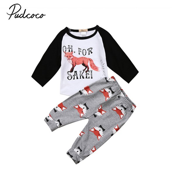 Boys' Clothing (0-24 Months) 2PCS/Set Baby Boys Girl Kids Shirt Tops+Long Pants Sweatshirt Clothes Outfits AB