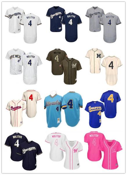 new product 3df85 b8805 2019 Custom Milwaukee Brewer Men/Women/Yout 4 Paul Molitor Purple El Mago  Program Replica Celtic Flexbase Authentic Baseball Jerseys From Lzytop003,  ...