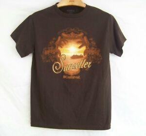 Карнавальные круизные линии Коричневая футболка SunSetter, размер S