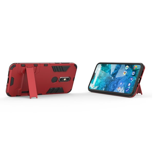 For Nokia 7.1 Plus Galaxy A9 2018 Ironman Hybrid Case For Huawei Mate 20X 20 Pro Y9 2019 Defender Hard PC+TPU Shockproof Rugged Luxury Skin