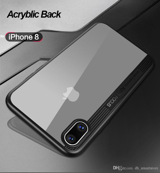 For iphone xs max xr x 8 Case Transparent Fitted Phone Cases Soft Silicone Case Full Protect Hard PC Back Cover For iphone 7 6 6s plus