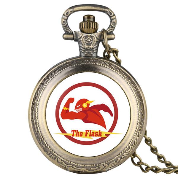 Orologio da taschino con orologio da taschino in quarzo da uomo in flash nero / oro / argento / cassa a colori in oro Orologio da uomo casual per bambini