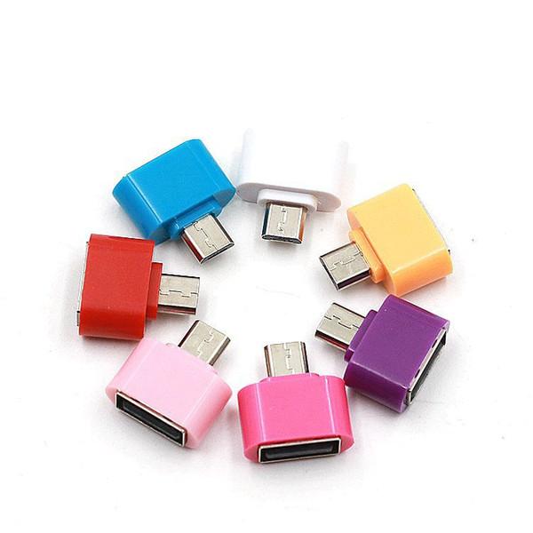 Micro USB a USB 2.0 Hub Convertidor Adaptador OTG para teléfonos celulares Android para Samsung Cable Card Reader Flash Drive Ratón Teclado