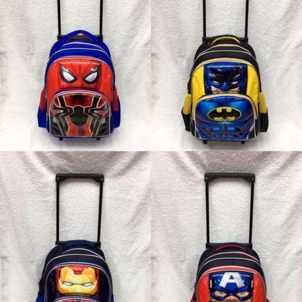 Borse Trolley New Primary School Bambini Anime Zaino Schoolbag Bambino con ruote 16