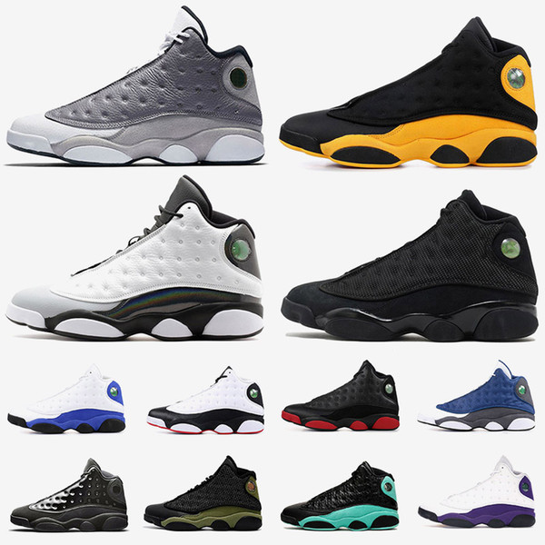 wholesale jumpman 13 mens basketball shoes women designer sneakers 13s xiii atmosphere grey class off 2002 black cap and gown trainers
