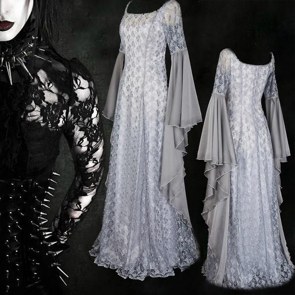 Robe Femmes Halloween Cosplay Robe Médiévale