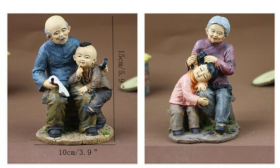 Creative Couples old man too home Living Room Study Decorations Orn Old Man Home Small Ornaments Grandparents Old Lady Characters Crafts