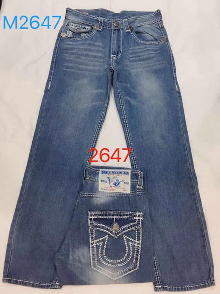 Jeans décontractés maigres déchirés de TR pour hommes de créateurs de mode Jeans Slim Moto Moto Biker Causal Mens Denim Pants
