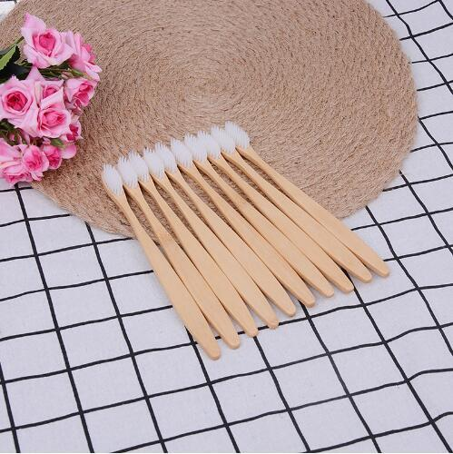 Soft Medium Bamboo Brushes Wood Handle Toothbrush Personal Environmental Bamboo Charcoal Toothbrush For Oral Health Durable