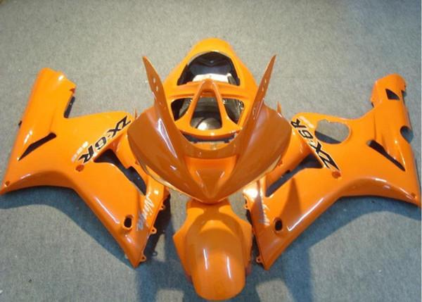 Neue ABS-Motorrad-Verkleidungs-Kits passen für Kawasaki Ninja ZX6R 636 2003 2004 03 04 6R 600CC Bodywork-Set benutzerdefinierte Orange