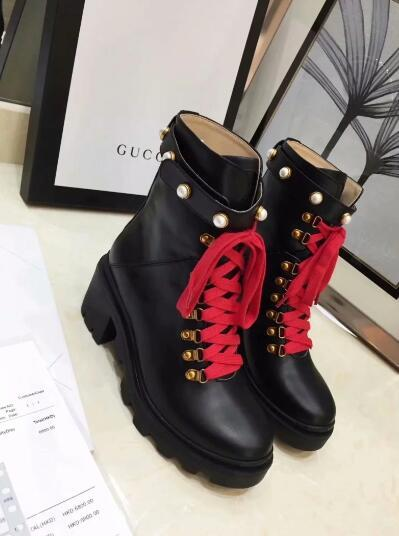 Hot Sale-New Popular Fashion British 6cm Women Boots Round Toe Martin Boots Buckle Strap Chunky Heel Round Toes Fashion Brand Ankle Boots