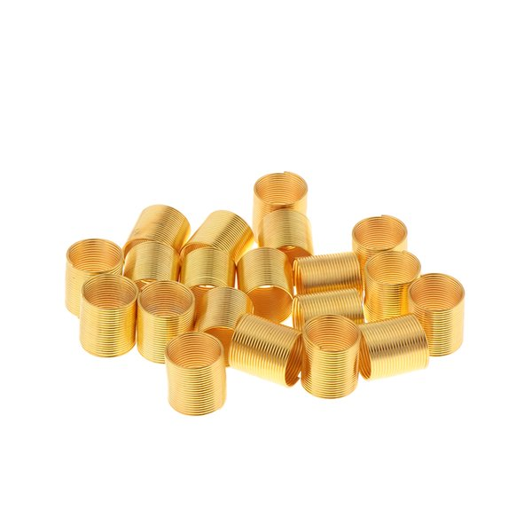 top popular Pack of 20Pcs Dreadlocks Beads, Metal Hair Cuffs Hair Braiding Decorations, Gold Color, Beautiful and Fashionable Design 2021