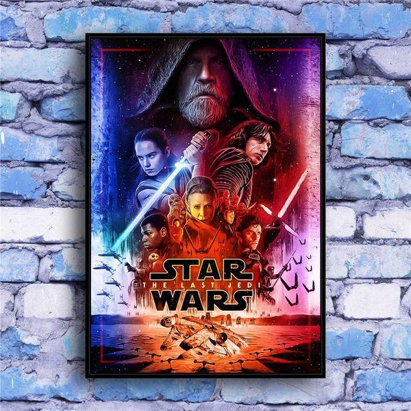 (Senza cornice / Cornice) The Last Jedi -001,1 Pezzi Stampe su tela Wall Art Olio su tela Home Decor 16x24.