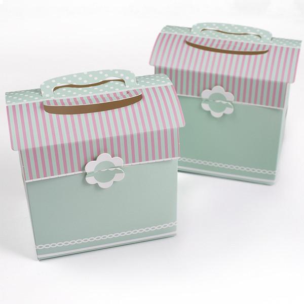 Griff Partei Geschenkbox Hochzeit Süßigkeiten Verpackung Box Schal Schmuck Kartonagen