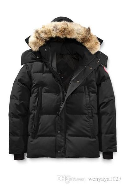 2018 Top Brand New Winter da uomo Wyndham Down Parka Winter Jacket Arctic Parka blu scuro nero verde rosso cappotto esterno con cappuccio